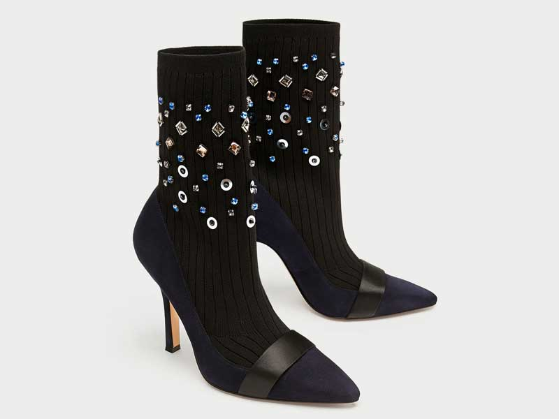 Sock-style boots by Zara at Mall of the Emirates and City Centres