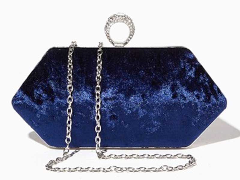 Velvet clutch bag by Charming Charlie available at City Centres