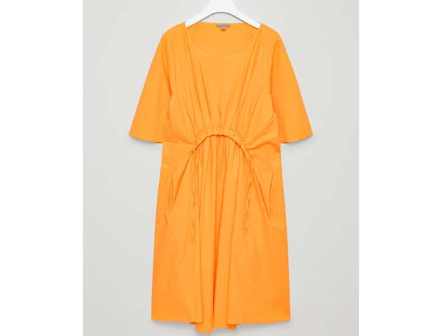 Orange dress available at COS in Mirdif and Bahrain