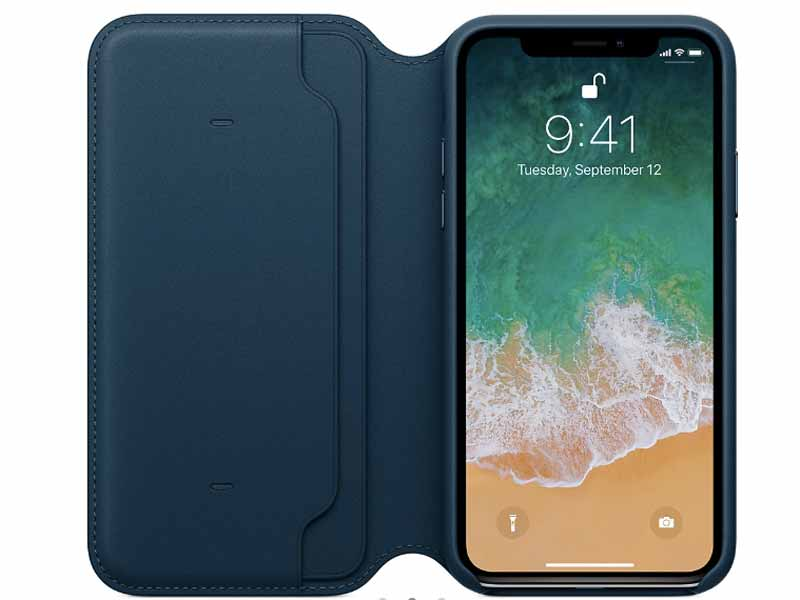 Leather folio case for iPhone X at Apple Store in Lebanon