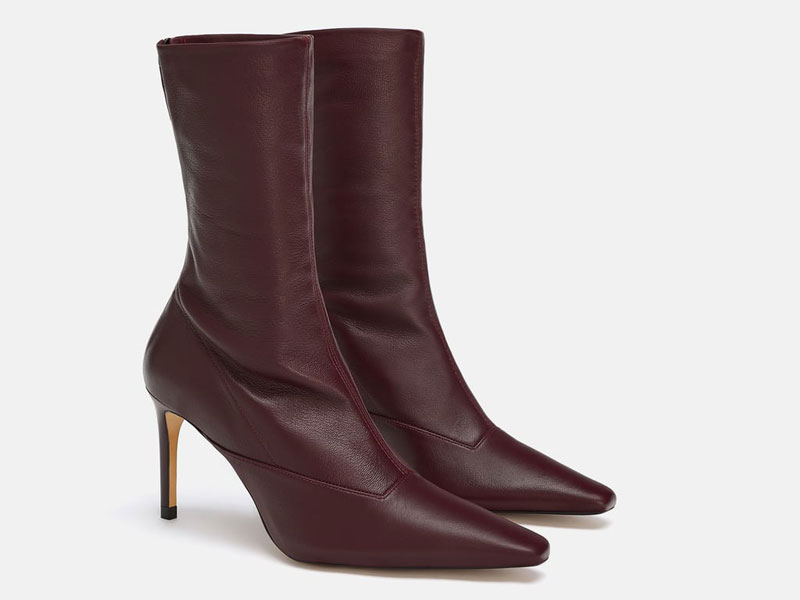 Leather boots by Zara Dubai, visit Mall of the Emirates and City Centres