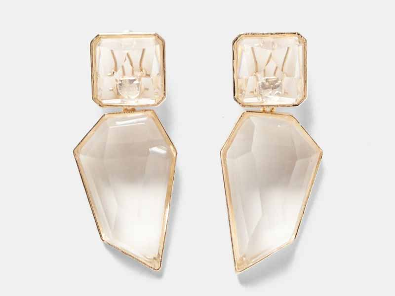 Zara's Clear stone earrings add instant gloss to your outfit