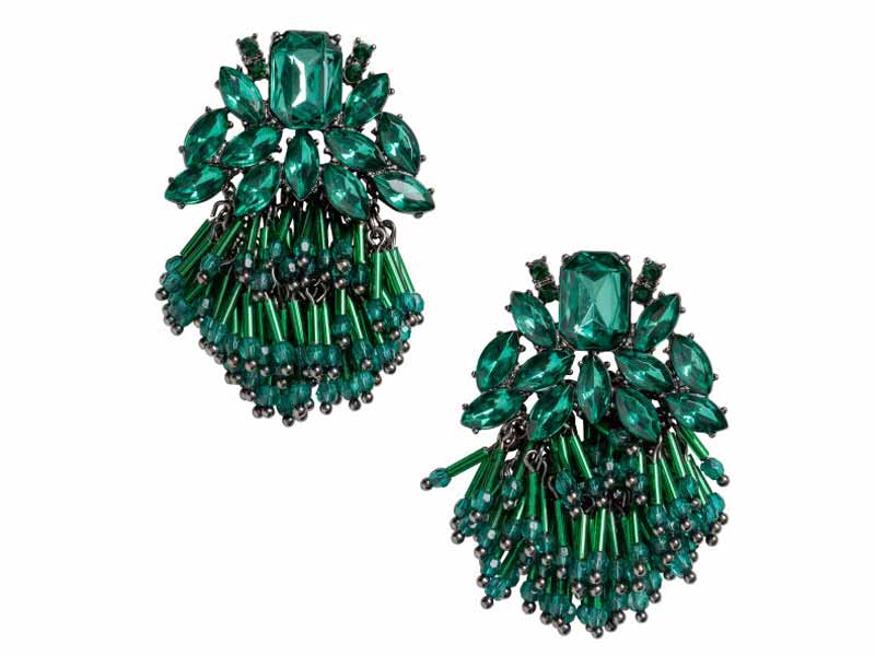 Emerald Green Earrings from H&M Beirut