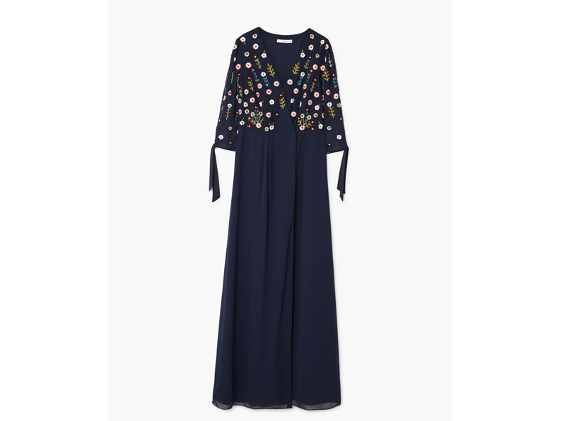 Embellished navy dress by Mango available at Mall of the Emirates and City Centres