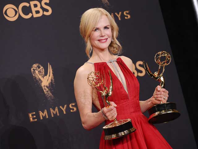 Nicole Kidman is a vision in red